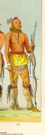 [The Manners, Customs, and Condition of the North American Indians., He Who Is Not Afraid, Big Crow, and Man of the Bed, three young warriors [Detail]]