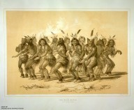 [Catlin's North American Indian Portfolio. Hunting Scenes and Amusements of the Rocky Mountains and Prairies of America., The Bear Dance.]