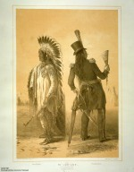 [Catlin's North American Indian Portfolio. Hunting Scenes and Amusements of the Rocky Mountains and Prairies of America., Wi-jun-jon. An Assinneboin Chief.]