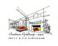 Jim Alexander Christmas Card 1982