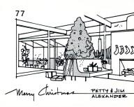 Jim Alexander Christmas Card 1977