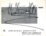 Jim Alexander Christmas Card 1964
