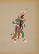 [Kiowa Indian Art: watercolor paintings in color by the Indians of Oklahoma, Warrior in Green]