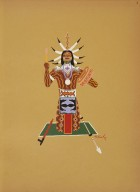 [Kiowa Indian Art: watercolor paintings in color by the Indians of Oklahoma, Chassing [sic] Evil Spirits]