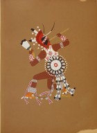 [Kiowa Indian Art: watercolor paintings in color by the Indians of Oklahoma, War Dancer]