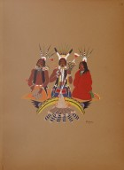 [Kiowa Indian Art: watercolor paintings in color by the Indians of Oklahoma, Kiowa Singers]