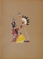 [Kiowa Indian Art: watercolor paintings in color by the Indians of Oklahoma, Osage Piote Man]