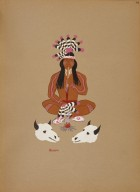 [Kiowa Indian Art: watercolor paintings in color by the Indians of Oklahoma, Making Medicine]