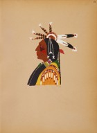[Kiowa Indian Art: watercolor paintings in color by the Indians of Oklahoma, Portrait]