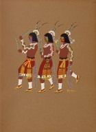 [Kiowa Indian Art: watercolor paintings in color by the Indians of Oklahoma, Hopi Green Dance]