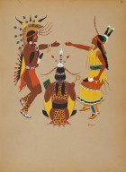 [Kiowa Indian Art: watercolor paintings in color by the Indians of Oklahoma, Wedding Ceremony]