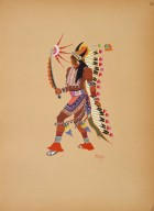 [Kiowa Indian Art: watercolor paintings in color by the Indians of Oklahoma, War Dance]
