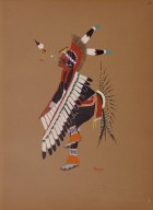 [Kiowa Indian Art: watercolor paintings in color by the Indians of Oklahoma, Eagle Dance]