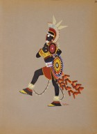 [Kiowa Indian Art: watercolor paintings in color by the Indians of Oklahoma, Warrior in Black]