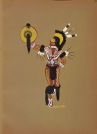 [Kiowa Indian Art: watercolor paintings in color by the Indians of Oklahoma, Kiowa Warrior]