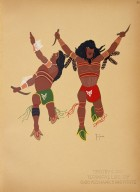 [Kiowa Indian Art: watercolor paintings in color by the Indians of Oklahoma, Warriors]