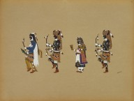 [Buffalo Dance, Pueblo Indian painting; 50 reproductions of watercolor paintings by Indian artists of the New Mexican pueblos of San Ildefonso and Sia]