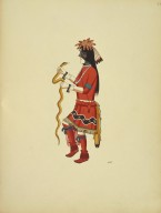 [Pueblo Indian painting; 50 reproductions of watercolor paintings by Indian artists of the New Mexican pueblos of San Ildefonso and Sia, Snake Dance Performer]