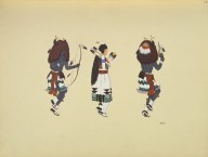 [Pueblo Indian painting; 50 reproductions of watercolor paintings by Indian artists of the New Mexican pueblos of San Ildefonso and Sia, Buffalo Dance Figures]