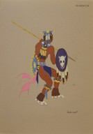 [Les peintres indiens d'Amérique, American Indian painters, The Lance Dance]
