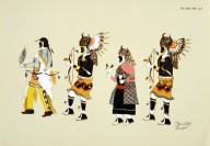 [Les peintres indiens d'Amérique, American Indian painters, Tesuque Buffalo Dance]