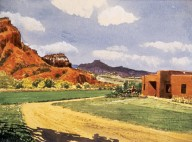 Adobe House in Southwest Landscape