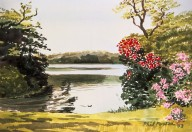 Lakeside with Flowers