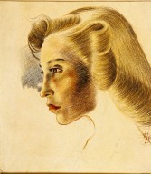 Portrait of Woman's Face in Profile