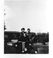 Tongres, Barbara and Ted (Brother-in-Law) with Jeep