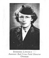 Barbara Lincoln, Assistant Red Cross Field Director Overseas