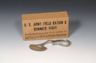 Phalangeal Saw and U.S. Army Field Ration K Dinner Unit