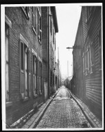Street Improvement Photographs -- Box 21, Folder 39 (Bright Alley) -- print, 1921-12-02