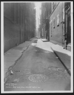 Street Improvement Photographs -- Box 24, Folder 18 (Hatter's Alley) -- print, 1934-05-22