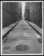 Street Improvement Photographs -- Box 24, Folder 18 (Hatter's Alley) -- print, 1934-11-27