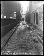 Street Improvement Photographs -- Box 32, Folder 41 (Cathedral Alley) -- negative, 1931-10-03