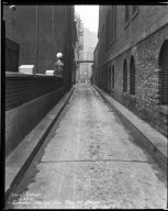 Street Improvement Photographs -- Box 32, Folder 41 (Cathedral Alley) -- negative, 1931-12-23