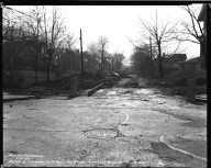 Street Improvement Photographs -- Box 34, Folder 11 (Dryden Street) -- negative, 1940-11-18