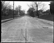 Street Improvement Photographs -- Box 34, Folder 11 (Dryden Street) -- negative, 1941-02-14