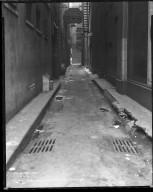 Street Improvement Photographs -- Box 36, Folder 64 (Hatter's Alley) -- negative, 1933-04-08