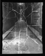 Street Improvement Photographs -- Box 36, Folder 66 (Hatter's Alley) -- negative, 1934-11-27