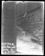Street Improvement Photographs -- Box 38, Folder 13 (Klotter Avenue (Wall)) -- negative, 1945-06-05
