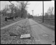 Street Improvement Photographs -- Box 52, Folder 06 (February 19, 1954) -- negative, 1954-02-19