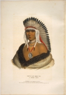 [History of the Indian Tribes of North America, Pet-a-le-shar-ro, a Pawnee brave]