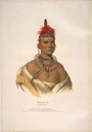 [History of the Indian Tribes of North America, Chono Cape, an Ottoe chief]