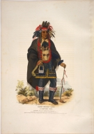 [History of the Indian Tribes of North America, O-kee-makee-quid, a Chippeway chief]