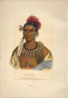 [History of the Indian Tribes of North America, Ma has kah, chief of the Ioways]