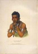 [History of the Indian Tribes of North America, Young Ma has kah, chief of the Ioways]