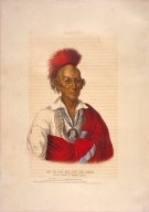 [History of the Indian Tribes of North America, Ma-ka-tai-me-she-kia-kiah or Black Hawk, a Saukie brave]