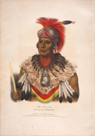 [History of the Indian Tribes of North America, Wa-pel-la, chief of the Musquakees]