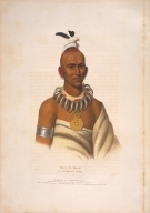 [History of the Indian Tribes of North America, Tai-o-mah, a Musquakee brave]
